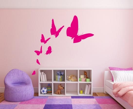 Sieben Schmetterlinge