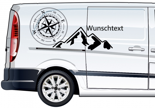 Kompass Autoaufkleber