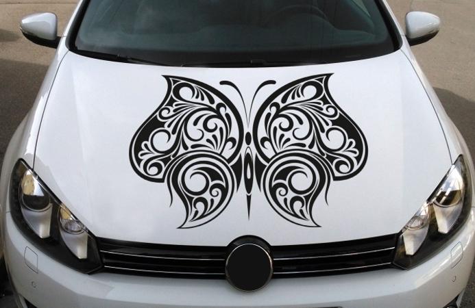 Motorhaube Schmetterling