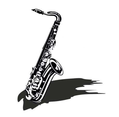 Saxophon mit Schatten