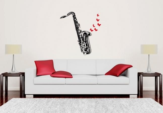 Saxophon und Schmetterlinge
