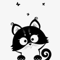 Katze mit Schmetterlig