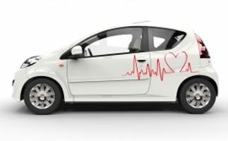 Autoaufkleber Kardiogramm