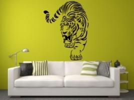 Tiger Atack Wandtattoo