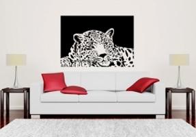 Liegend Leopard