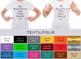 Textildruck Wunschtext