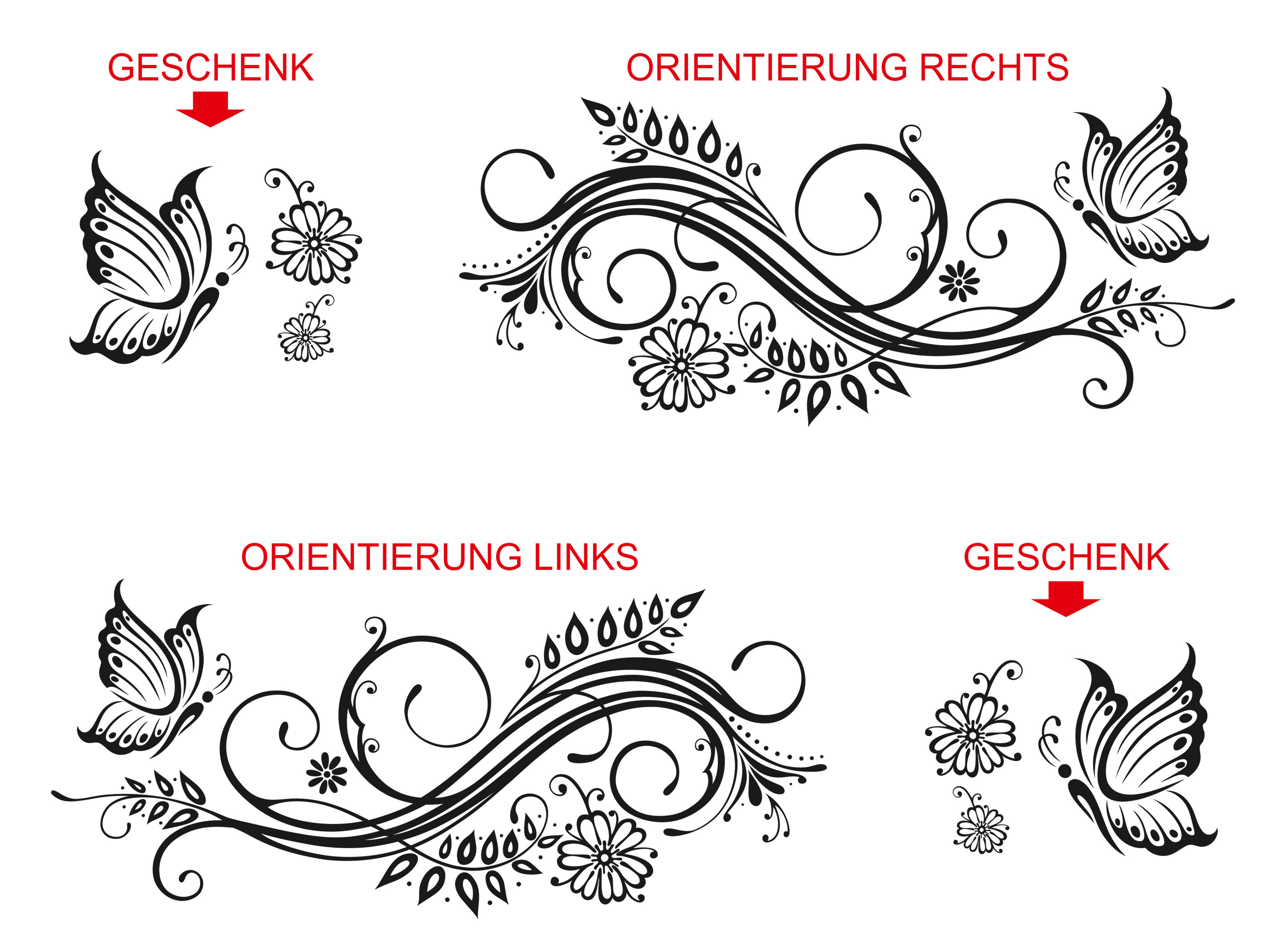 ornamente schmetterling