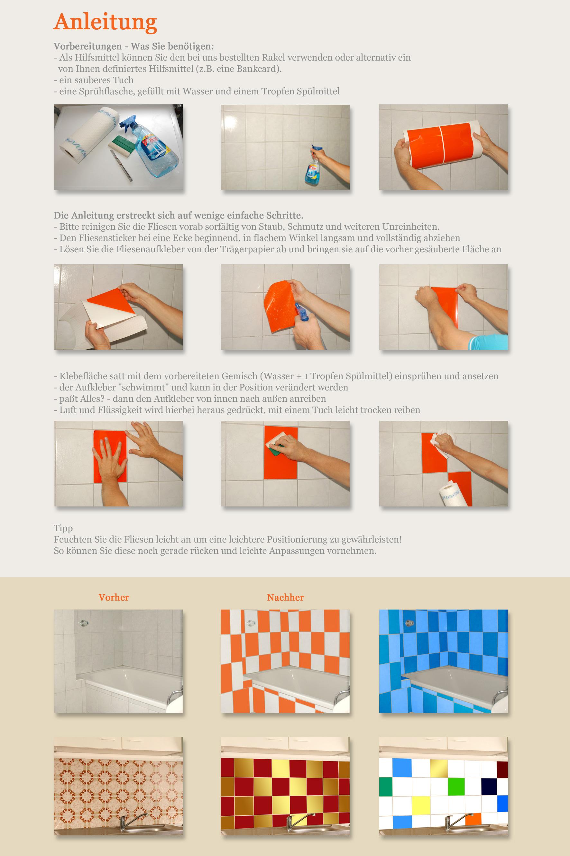 fliesenfolie k che hausgestaltung ideen. Black Bedroom Furniture Sets. Home Design Ideas